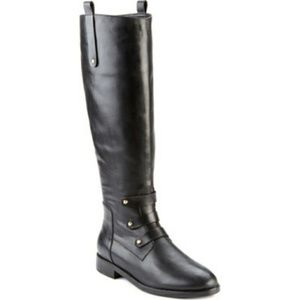 Joie Baldwin Black Leather Riding Boots Size 39(9)